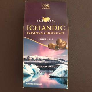 冰島朱古力 Tranditional Icelandic raisins & chocolate since 1933 130g made in iceland