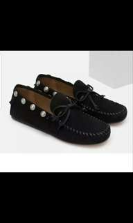 Leather Studed Loafers