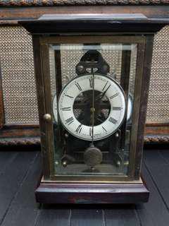 半賣半送¤咸豐年法蘭西古董機械搖擺座枱鐘(全銅+紅木)