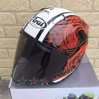 Arai Open Face Helmet With Visor