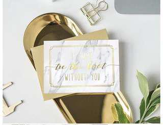 [IN STOCK] Bridesmaid Groomsmen Invitation Card - I can't tie a knot without you (Min order)