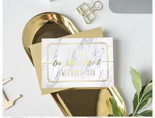 🚚 Bridesmaid Groomsmen Invitation Card - I can't tie a knot without you