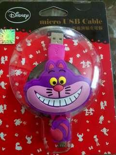 妙妙貓電話micro Usb Cable 伸縮充電線
