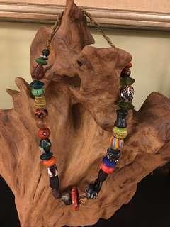 非洲琉璃珠項鍊