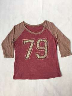 🚚 USA vintage 美國古著 79 棒球T