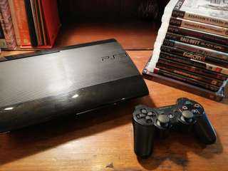 PS3 Superslim 500GB with 9 games