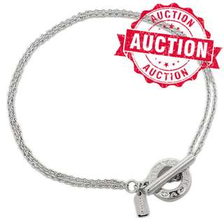 """Auction """"Like"""" & """"Bid"""" Authentic Brand New Coach Open Circle Bracelet Silver Color From USA Suggested Retail $175"""