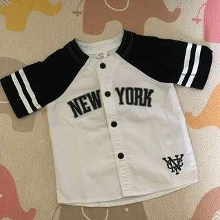 H&M Baseball Shirt (4-6months)