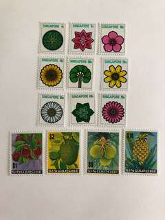 Singapore 1973 Fruits and Flowers definitives mnh