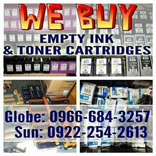 WE BUY OR BUYER OF USED/EMPTY INK CARTRIDGES AND TONER