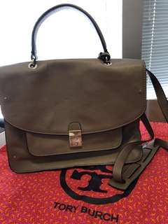 Tory Burch taupe cross body