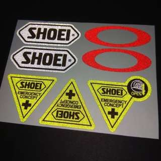 Shoei Emergency Helmet Sticker Reflective Decal Set