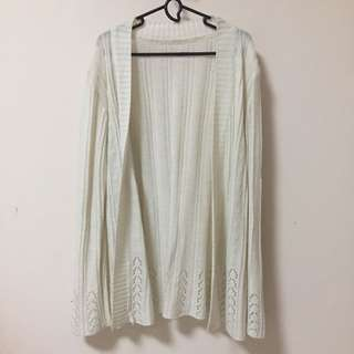 Broken White Knitted Cardigan