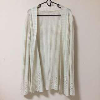 Broken White Knitted Cardigan