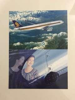 SQ SIA Celestar A340 Vintage Postcards Set