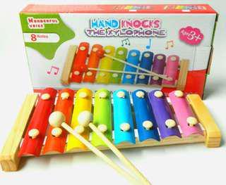 全新 益智玩具 兒童手敲木琴 學前教育 8音 100%New