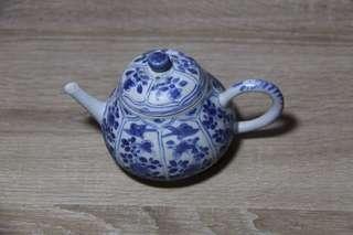 青花茶壶 康熙瓷