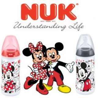NUK Premium Choice Disney Mickey Mouse/ Minnie Mouse Bottle (Wide Neck)
