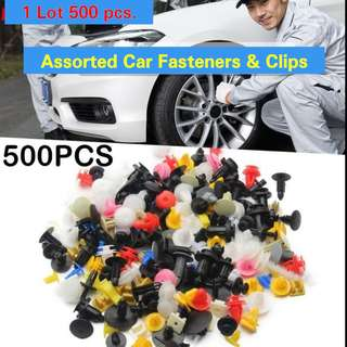 500 Assorted Car Fasteners & Clips
