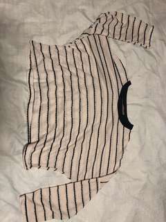 cropped stripes top (never worn from Bangkok)