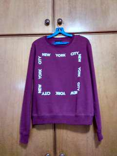 Cotton On maroon pullover sweater