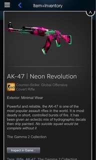 Ak-47 neon revolution minimal wear