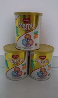 3 tins of Brand New Mamil Gold Soy 400g