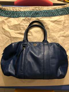 Tory Burch Brody satchel large in blue leather