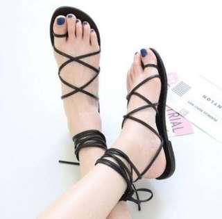 Black Laces Sandals
