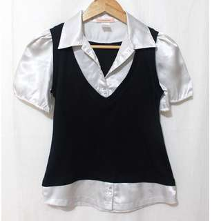 SODA Puffed Sleeve Blouse [T1388]