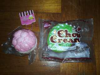 【35元 兩件!】Cake and Cream puff Squishy Set
