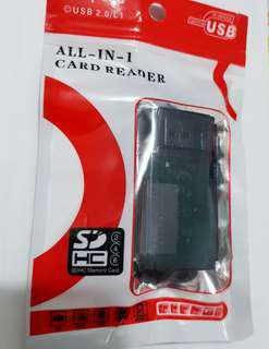 🚚 多功能讀卡機 USB2.0/L1 high speed card reader