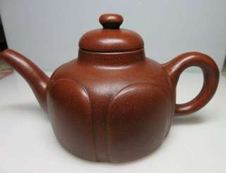 🚚 [老茗器]紫砂壺~紅土 如意壺 單孔 有落款 560CC