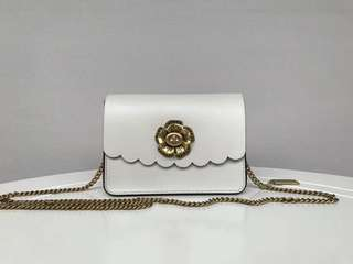 Coach Bowery Crossbody Bag with Tea Rose Turnlock - white