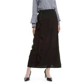 Wave skirt black