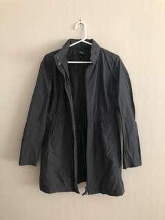 Eileen Fisher rain coat with hidden hood small