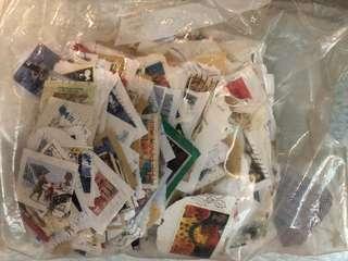 雜錦郵票 大概300枚 英國為主 Stamps UK