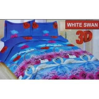 SPREI BONITA WHITE SWAN 180X200 cm king size seprei seprai