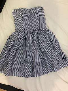 ABERCROMBIE&FITCH Striped Tube Dress (Size: M)