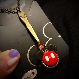 日本Disneyland Mickey Mouse cupcake款頸鍊