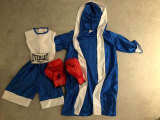 B.B. boxing costume with boxing gloves 泰拳服連拳套