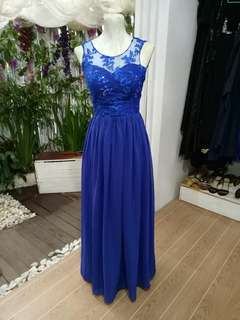 For Sale:Blue Gown w/lace