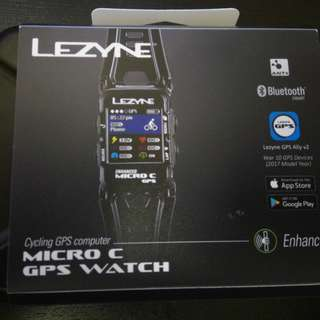 Lezyne Micro Colour GPS Smart Watch w'Mapping and Heart Rate monitor
