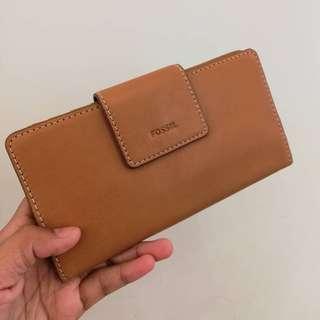 💯 Fossil Emma tab wallet tan