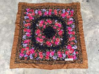 Authentic Yves Saint Laurent YSL Floral Foulards/Scarf
