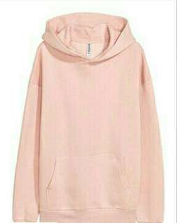 H&M Divided Unisex Oversized Pink Sweatshirt
