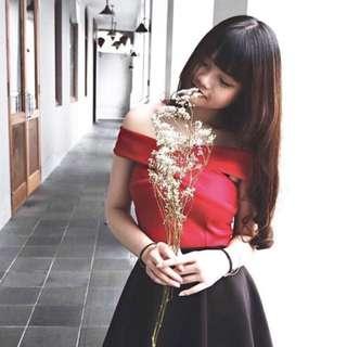 [Makassar] sabrina top crop