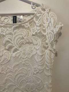 H&M White Lace Dress (US 4)