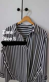 Zara batwing stripe shirt