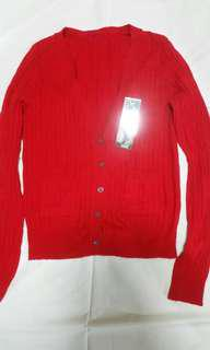 Red Cardigan with tag - v neck